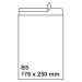 Plic B5 alb siliconic 80 g/mp - 176x250 mm