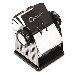 Fisier rotativ din metal fara capac Rolodex - 400 carti de vizita, negru