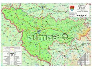 Almas Office Catalog Harta Rutiera A Judetului Timis Cu Sipci