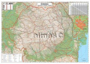 Almas Office Catalog Harta Rutiera A Romaniei Tipar Digital Cu