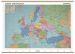 Harta administrativa a Europei cu sipci din lemn Stiefel - 160x120 cm