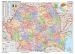 Harta administrativa a Romaniei cu sipci din lemn Stiefel - 160x120 cm