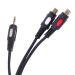 Cablu adaptor Jack - 2RCA, 3 m